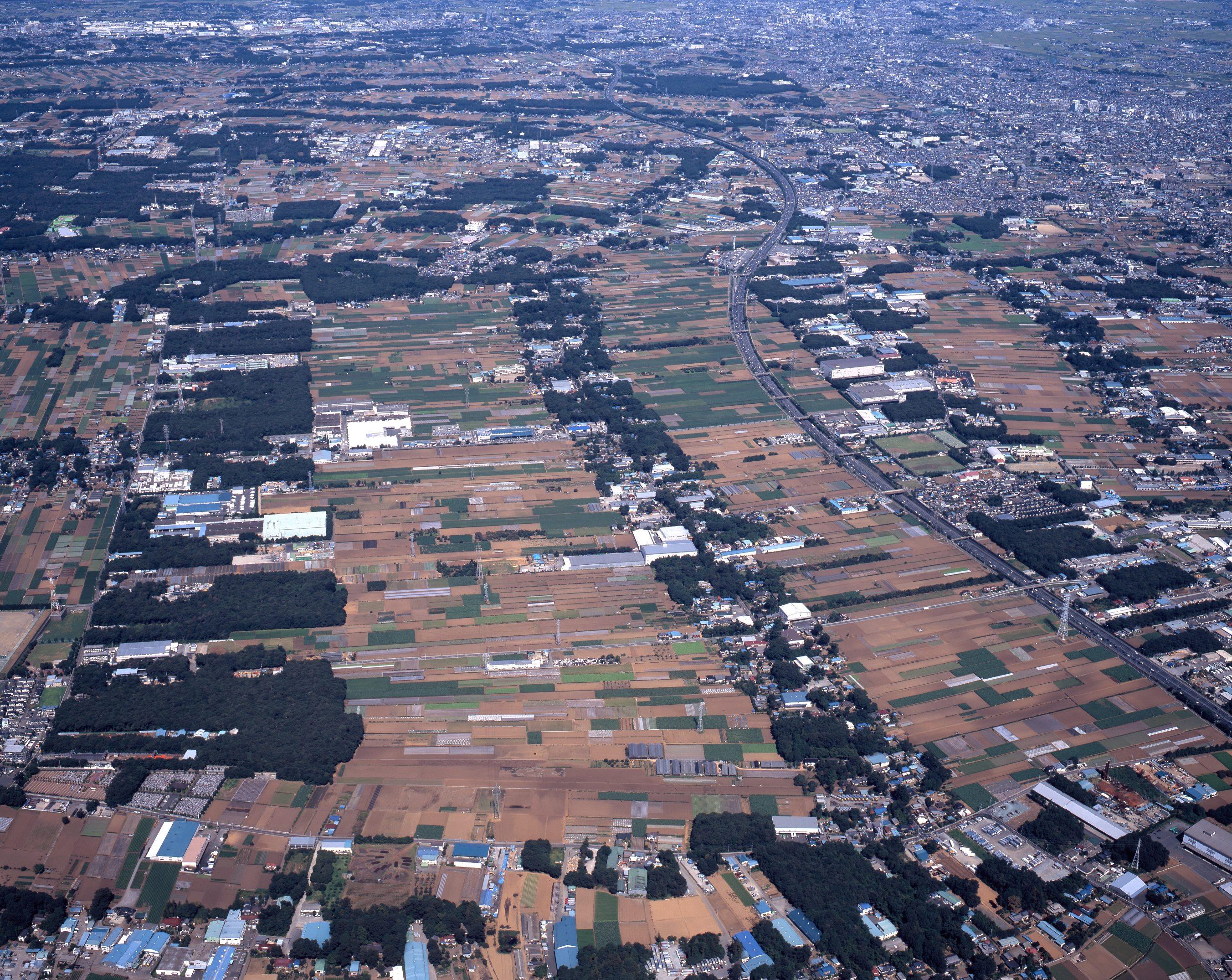 三富新田空撮(南から)